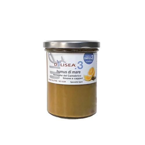 DE001 Humus di mare αντζούγια με λεμόνι & κάπαρη