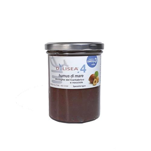 DE002 Humus di mare αντζούγια με φουντούκι